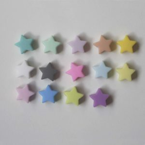 Separador Estrella Silicona 12mm (Color A Elegir)