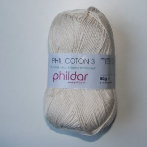 Phildar Cotton 3 Ref.0032 Beige Ecru