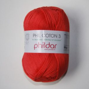 Phildar Cotton 3 Ref.0084 Rouge