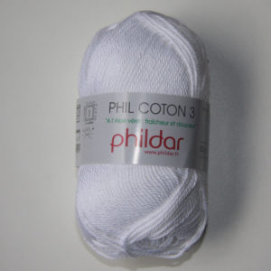 Phildar Cotton 3 Ref.0010 Blanco