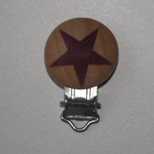 Chupetero De Madera Con Estrella (color A Elegir)