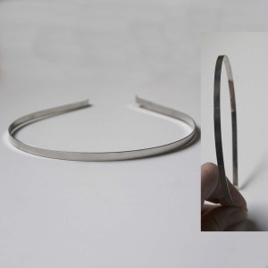 Diadema 5mm Plata