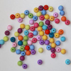 Pack 50 Bolitas 6mm Colores Surtidos