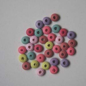 Pack 20 Separadores De Madera 10mm Colores Surtidos
