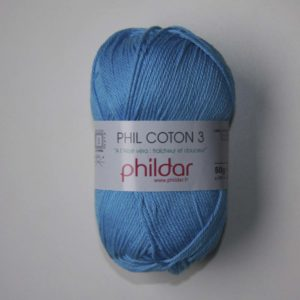 Phildar Cotton 3 Ref.0039 Azul Faience