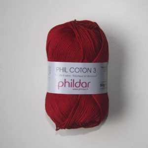 Phildar Cotton 3 Ref.0064 Rojo Griotte