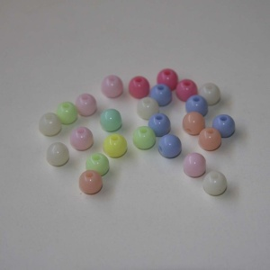 Pack De 25 Bolitas De 6mm Brillo (color A Elegir)