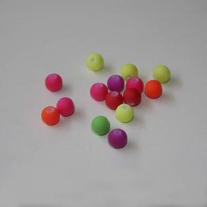 Pack De 15 Bolitas Fluor De 6mm (color A Elegir)