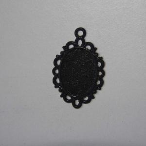 Camafeo Ovalado 22x30mm Negro