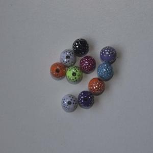 Pack Bola Plástico Brillante 8mm (color A Elegir)