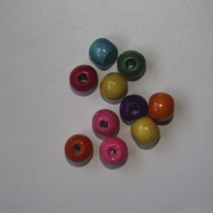 Pack Bola De Madera De 8mm (color A Elegir)