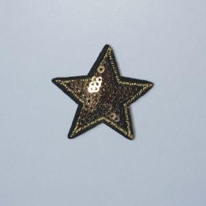 Estrella Lentejuleas Dorada 41 X 40 Mm