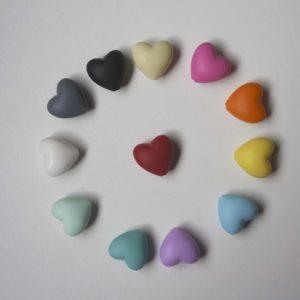 Corazón Silicona 2cm (color A Elegir)