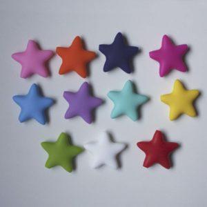 Estrella Silicona 4cm (color A Elegir)