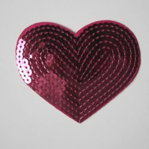 Parche Corazón Lentejuelas