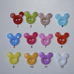 Botón  Mickey (Pack De 5 Unidades)