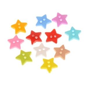 Botón Estrella 13mm Resina