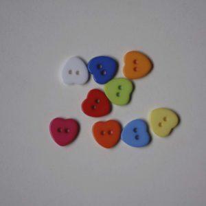 Botón De Corazón 11x11mm