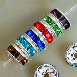 Espaciador Brillante 6mm (opciones De Color)