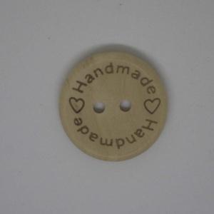 Botón Handmade Madera 25mm