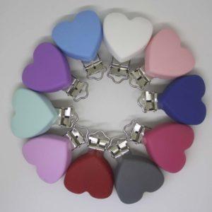 Chupetero Silicona Corazón (Color A Elegir)