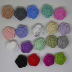 Flor Silicona (Colores A Elegir)