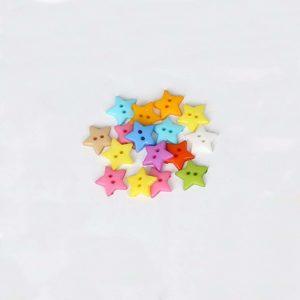 Pack 5 Botones Estrella 16mm