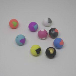 Bola Silicona 15mm Con Corazón Extraible (Color A Elegir)