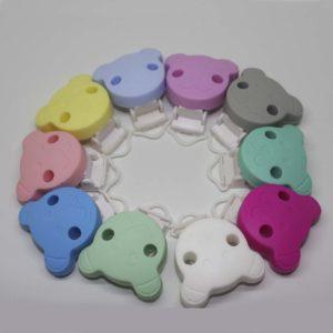 Chupetero Oso Pinza Plástico (Color A Elegir)