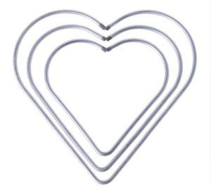 Corazón Atrapasueños Plateada (Medida A Elegir)