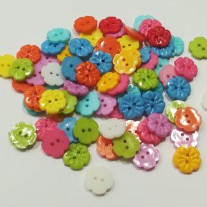 Botón Flor 15mm (Pack 5)