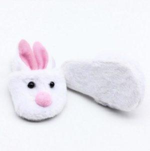 Zapatilla De Casa Con Forma De Conejo