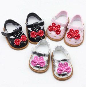 Zapato Con Lacito De Lunares
