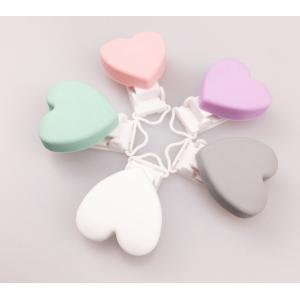 Chupetero Corazón Pinza Plastico