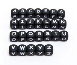 Letra Silicona 12 Mm Negra