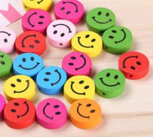 Pack De 5 Redondos Con Carita Sonriente